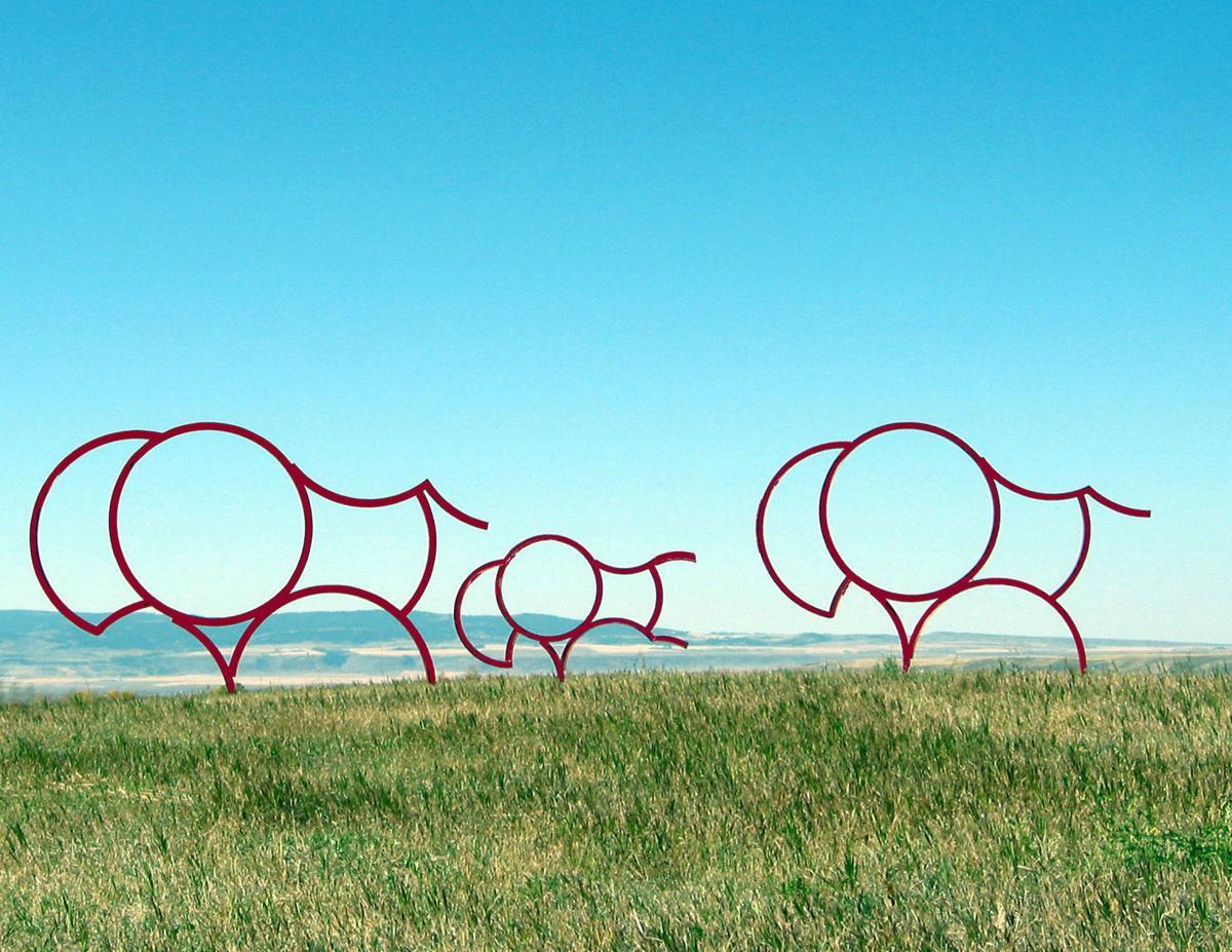 John Simms bison sculptures