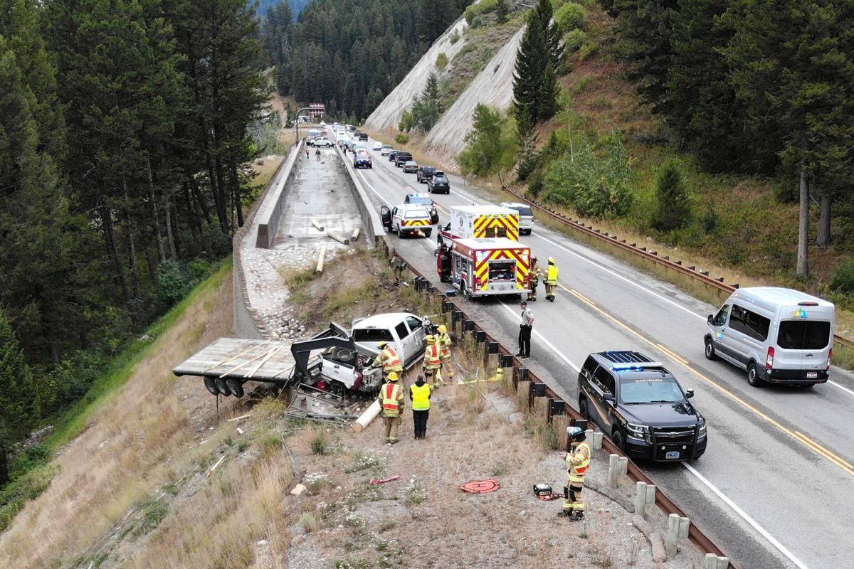 Log truck blows through arrestor