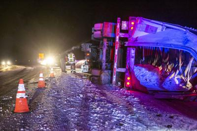 Semi truck crashes on Teton Pass highway