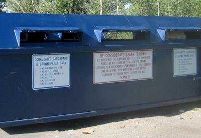 Recycling bins temporarily moving for fair