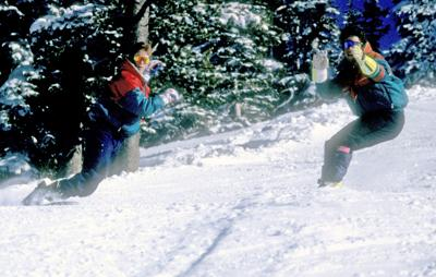 Snowboarding at Grand Targhee