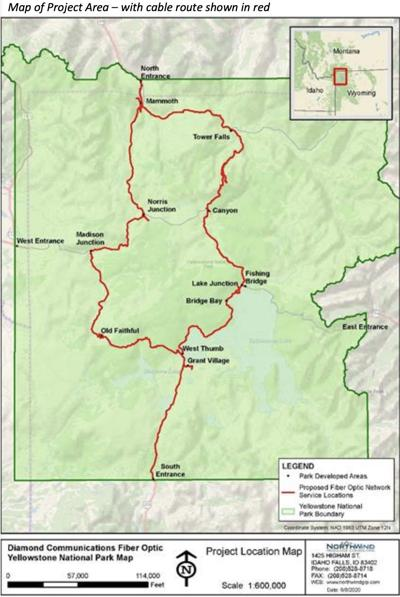 Yellowstone proposed fiber optic line