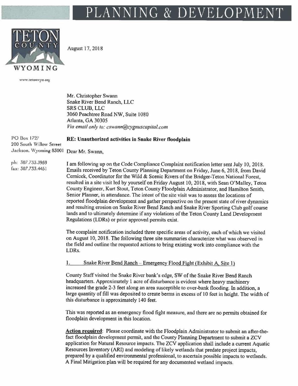 Teton County LDR compliance letter | | jhnewsandguide.com