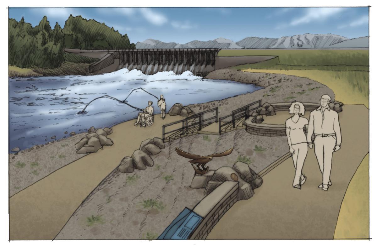Jackson Lake Dam boat ramp