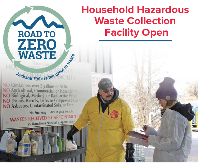 Household Hazardous Waste Collection Facility Open; by appointment ONLY