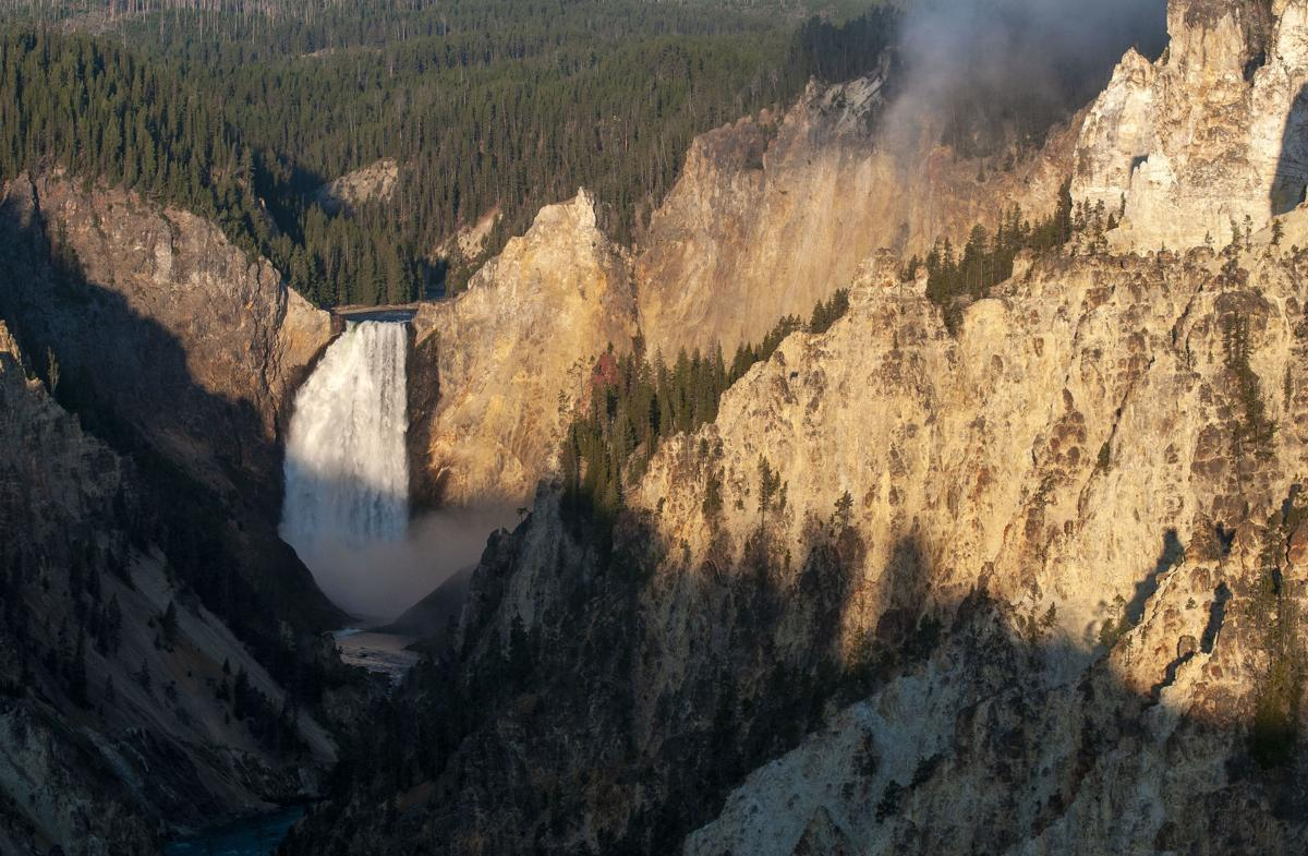 Lower Falls and Grand Canyon of the Yellowstone River, Yellowstone National Park, Wyo.