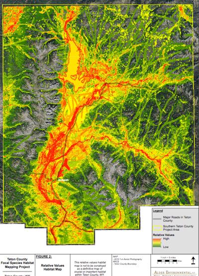 Teton County Focal Species Habitat Map