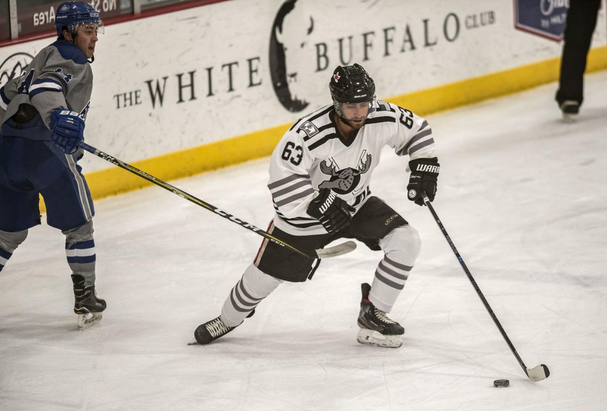 Moose hockey vs. Vermont Flex