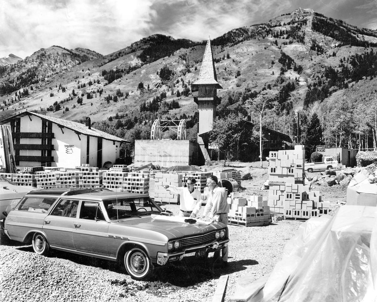 Original Aerial Tram construction