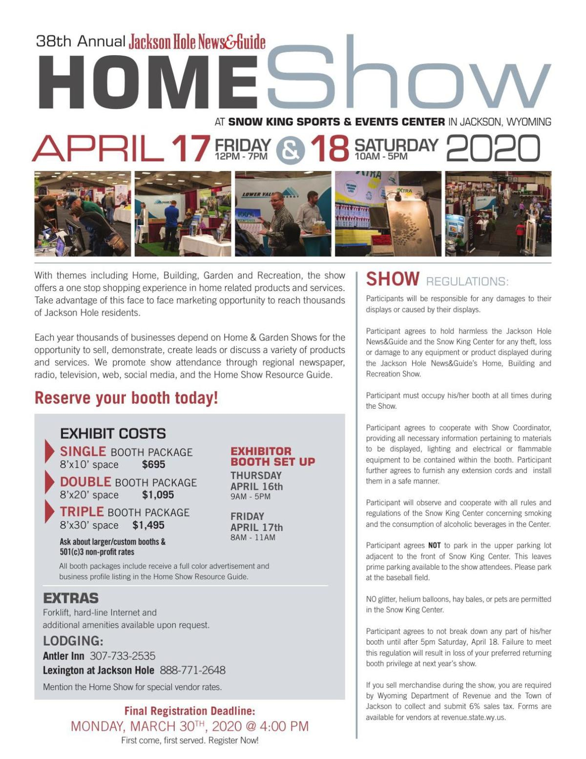 2020 Rate Sheet - Home Show