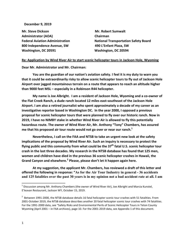 Albright FAA/NTSB letter     jhnewsandguide.com