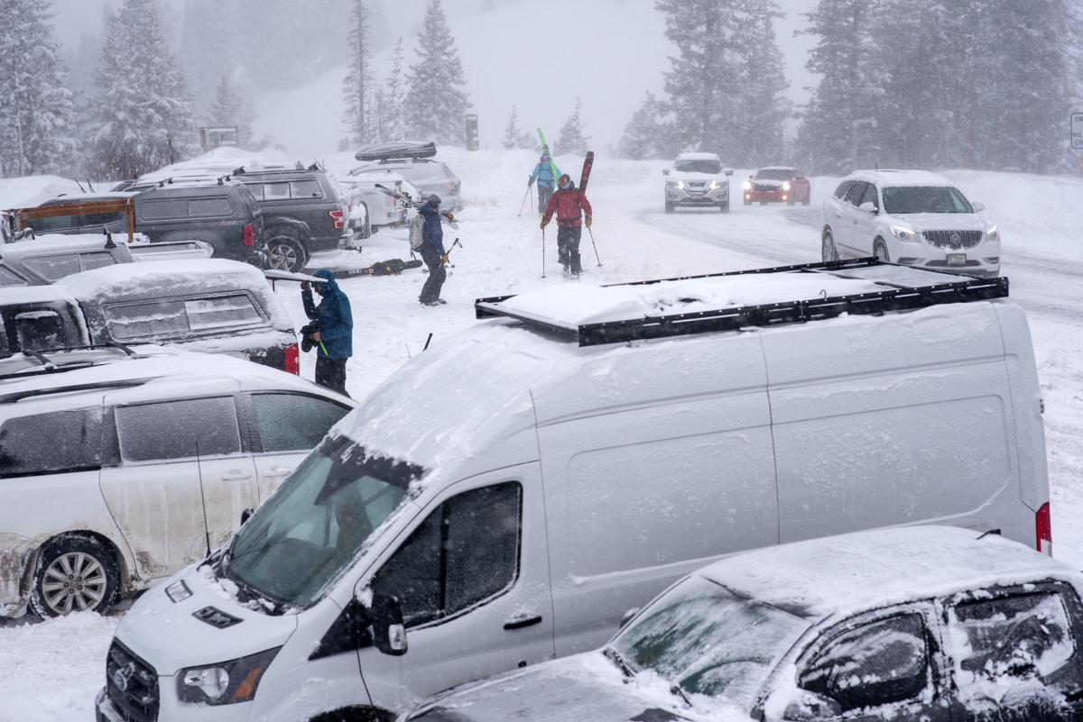 Teton Pass parking lot