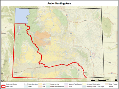 Wyoming shed hunting closure map