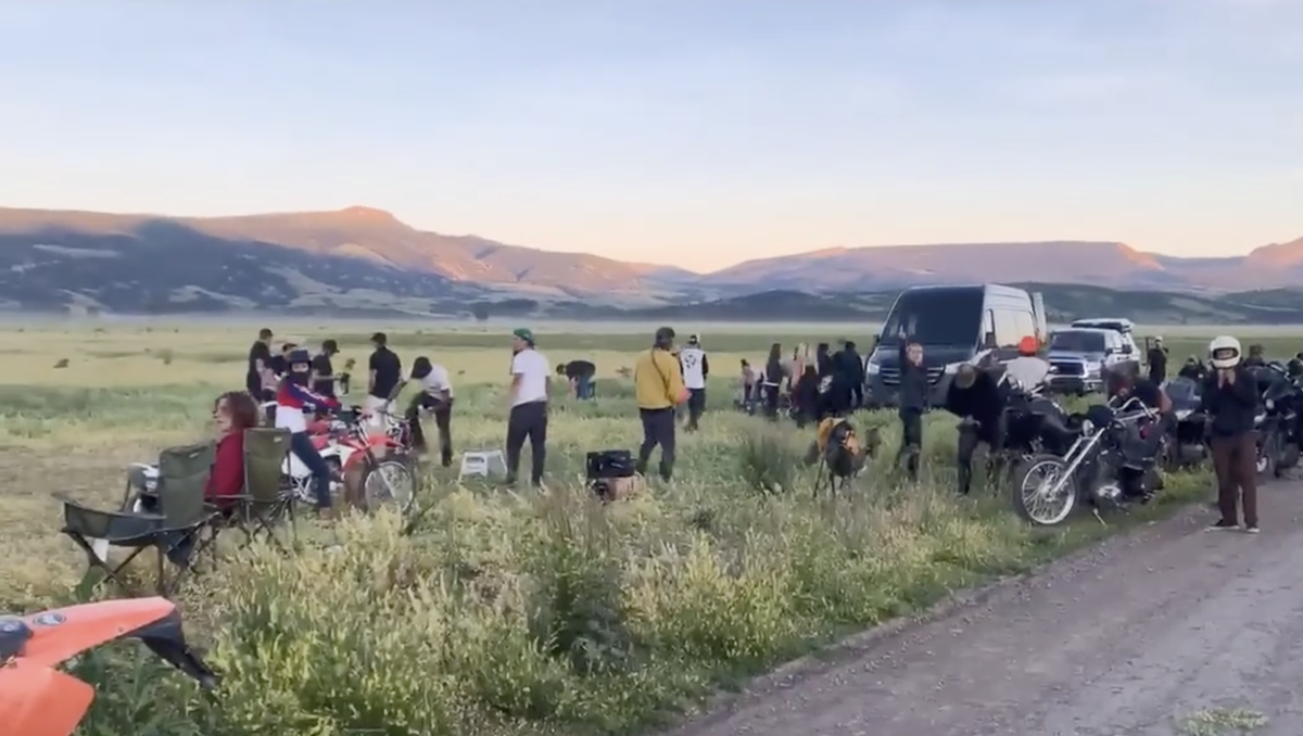 Illicit Mormon row dirtbike track