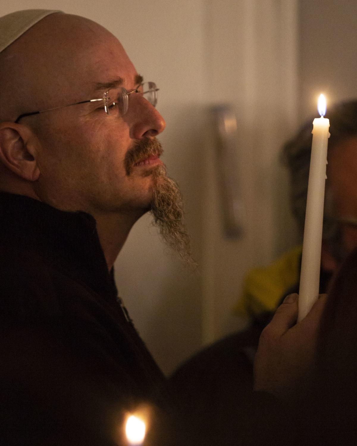 Vigil at Chabad Jewish Center