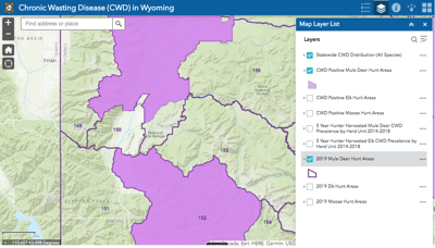 CWD detection in Wyoming Range