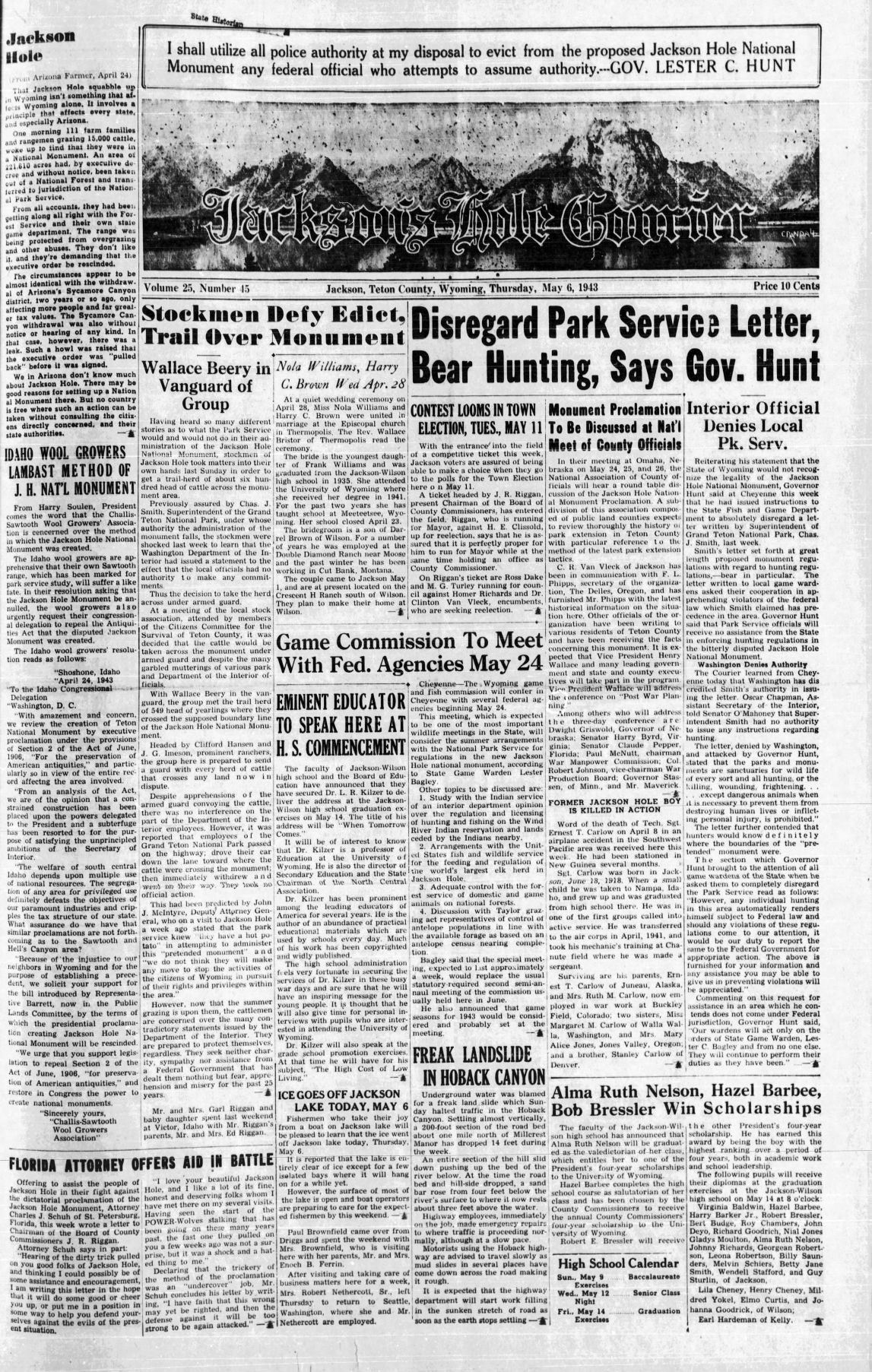 Jackson Hole digital news archives