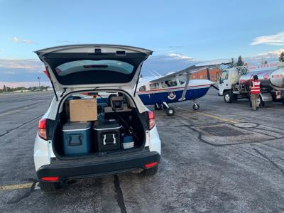 Tests flown to Cheyenne