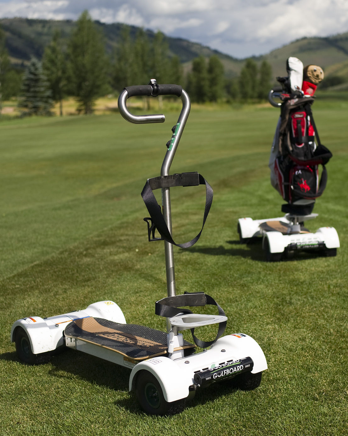 Golfing goes extreme with GolfBoard | Sports Features ... on michael jordan golf cart, adam sandler golf cart, tiger woods golf cart, peyton manning golf cart, surfing golf cart, jeff gordon golf cart,