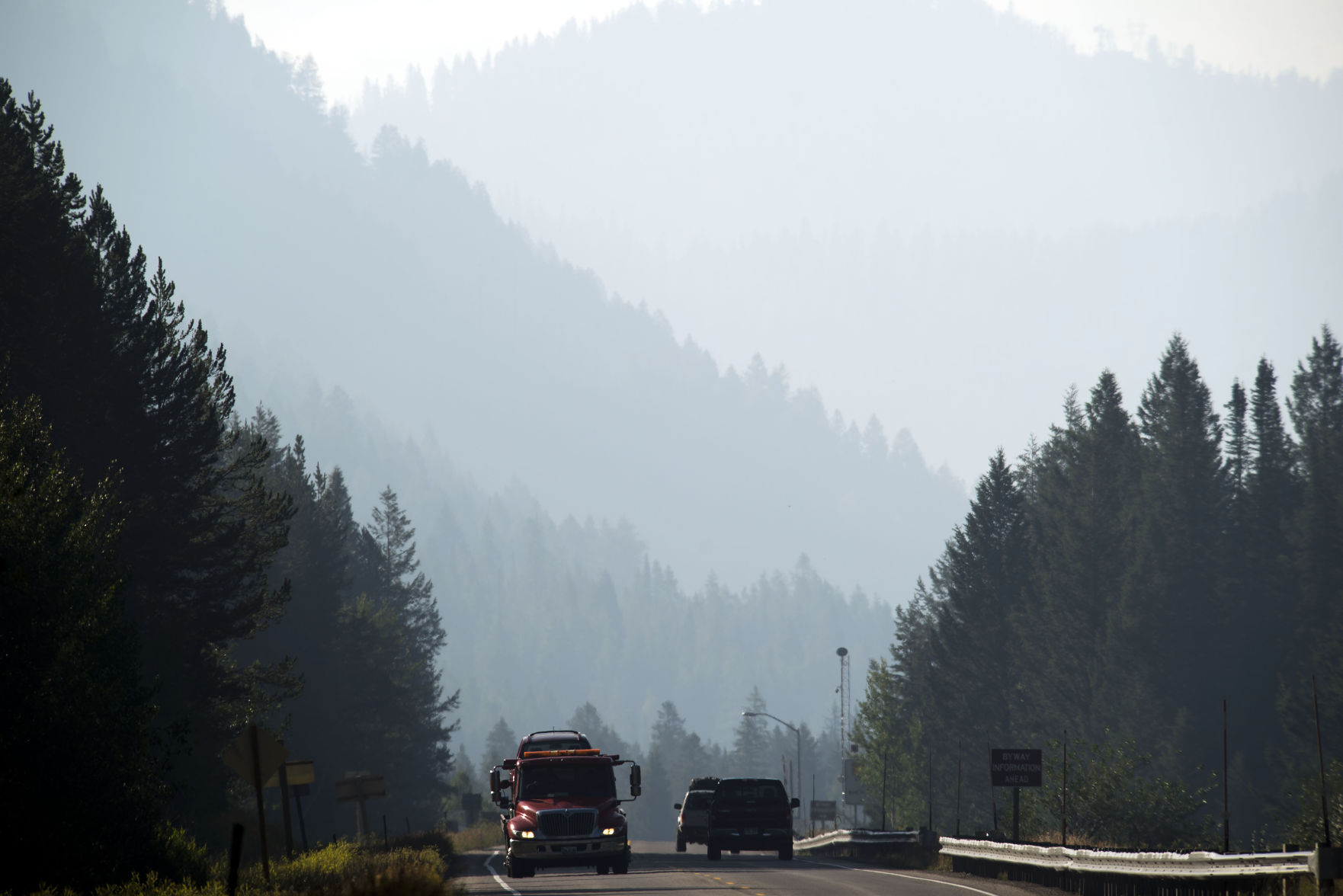 Air quality improves, but caution still in place