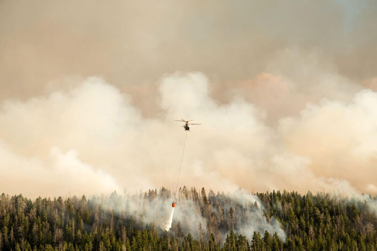 Wildfire Rages Onto Union Pass