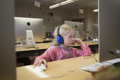 Jackson Elementary School coding class