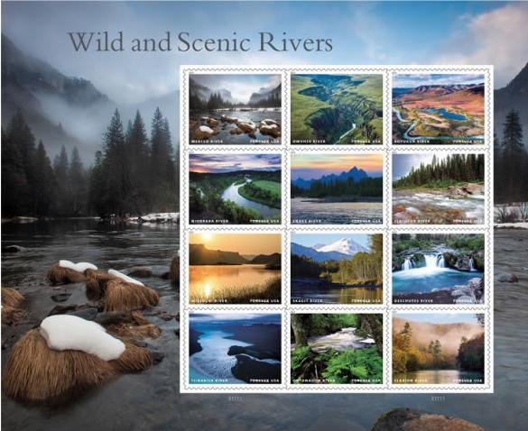 Wild and Scenic River Stamps
