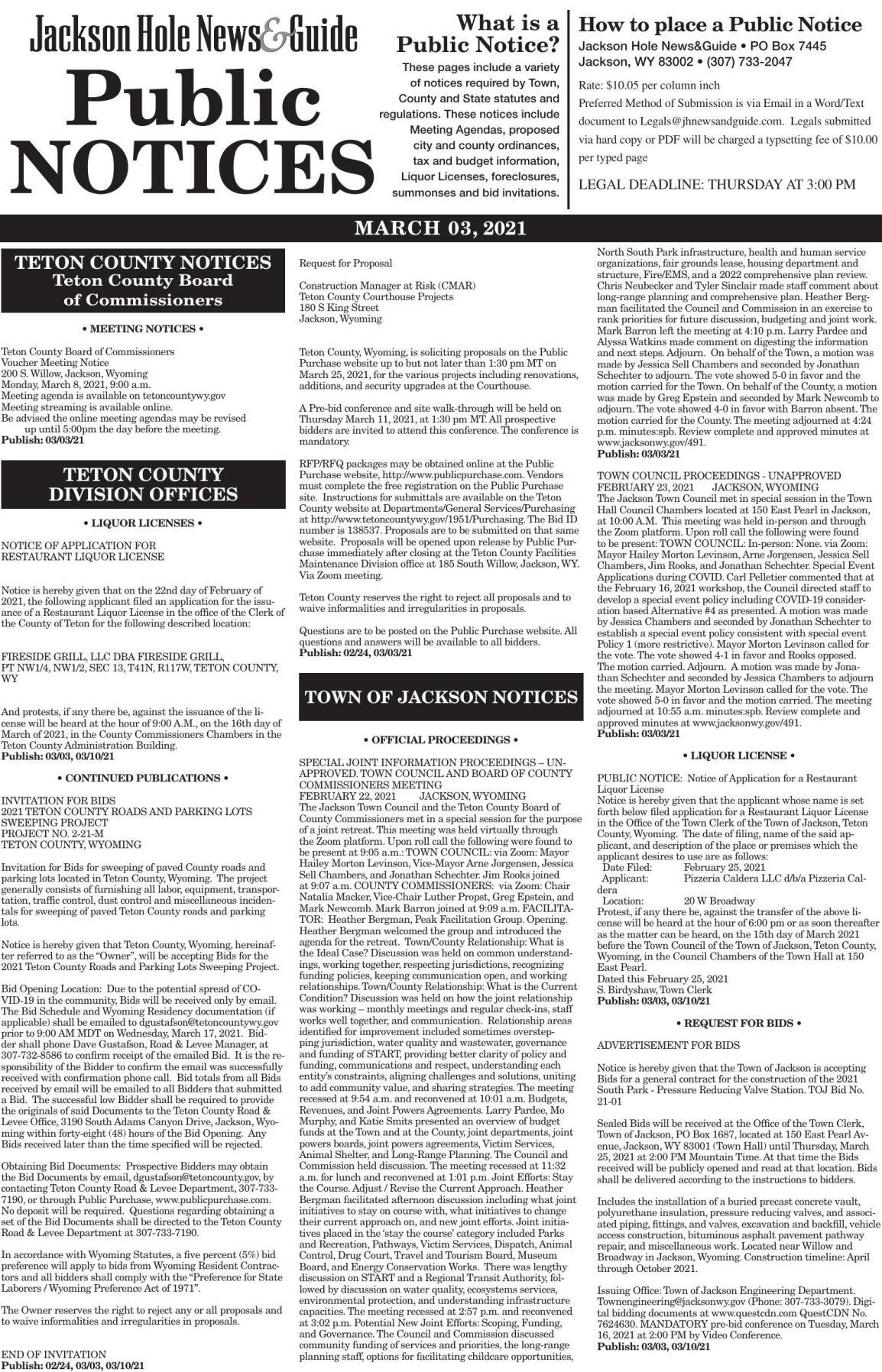 Public Notices, Mar. 03, 2021