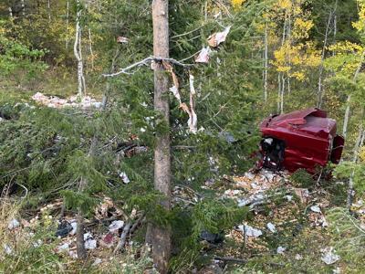 Potato truck wreck on Teton Pass