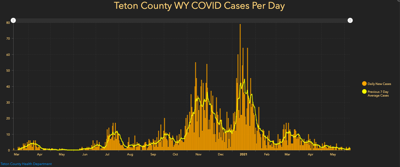Teton County epi curve