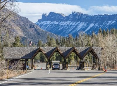 Yellowstone National Park east entrance station