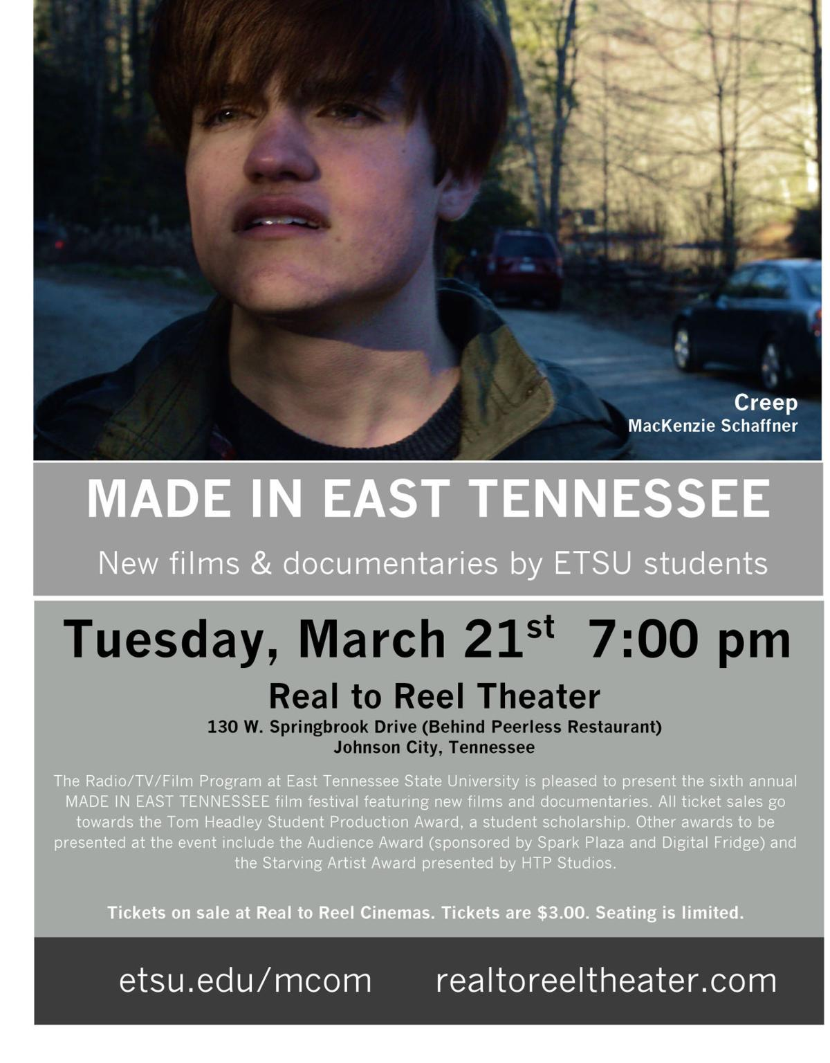 ETSU students' short films to be presented at Real to Reel