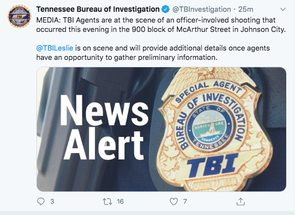 UPDATE: TBI says man pointed gun at Johnson City police before fatal shooting