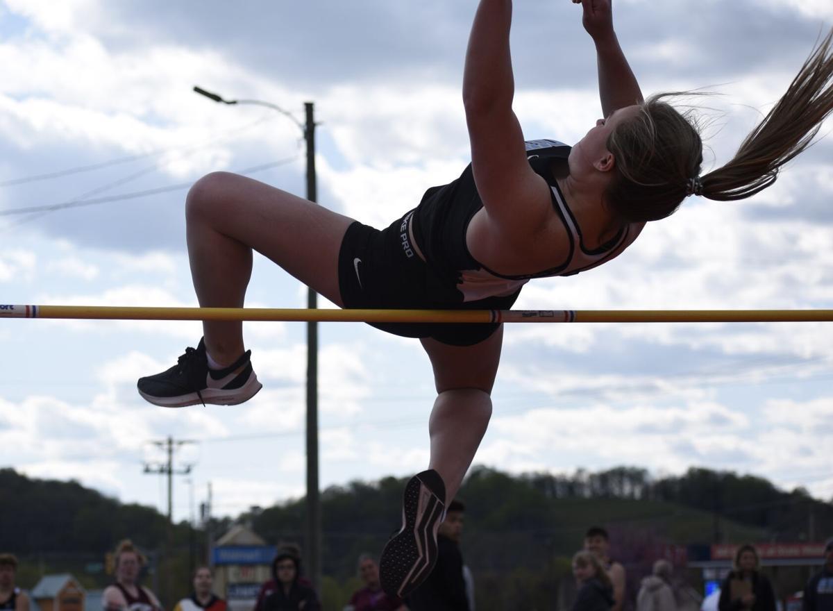 Madison Cowan high jump
