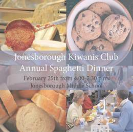 Jonesborough Kiwanis annual spaghetti dinner set for Feb. 25