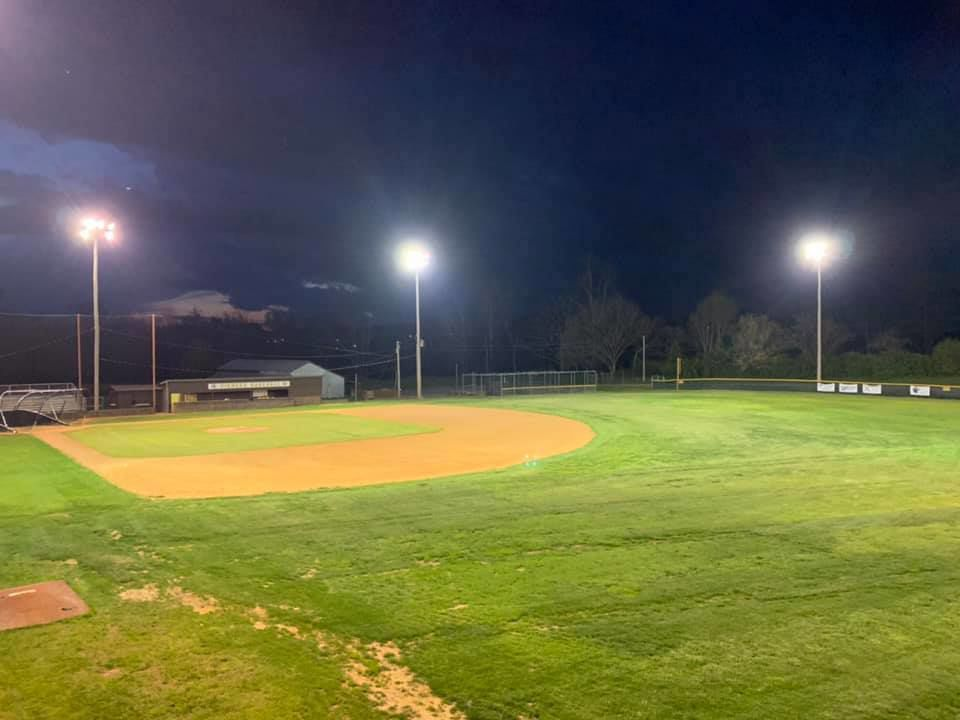 High school fields lit to show support for senior class