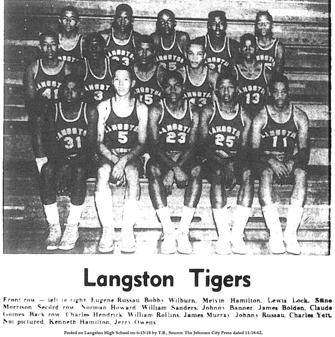 Langston Basketball 1962