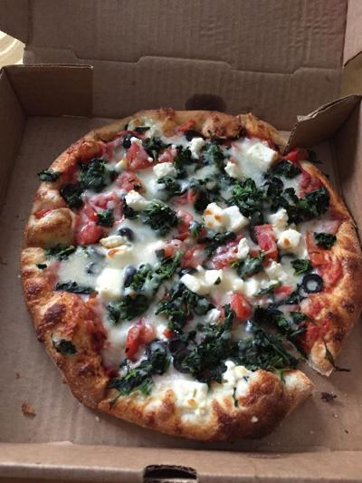 Adventures in carryout: Greek pizza from Portobello's