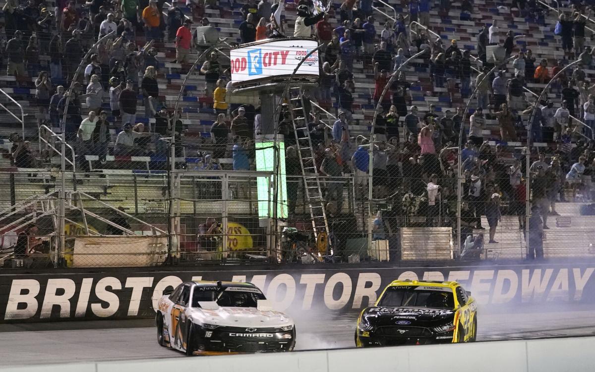 APTOPIX NASCAR Bristol Xfinity Auto Racing