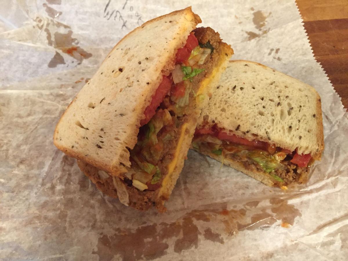 Shamrock meat loaf sandwich