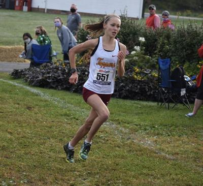 Science Hill's Jenna Hutchins at the finish
