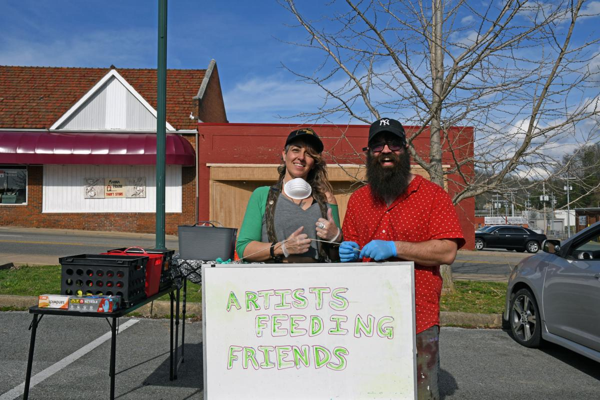 Artists Feeding Friends: Two artists team up to feed those in need