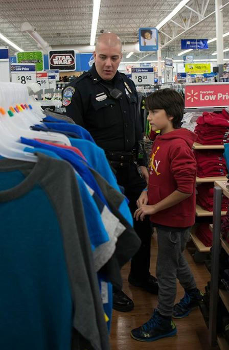 City police department holds Shop with a Cop program