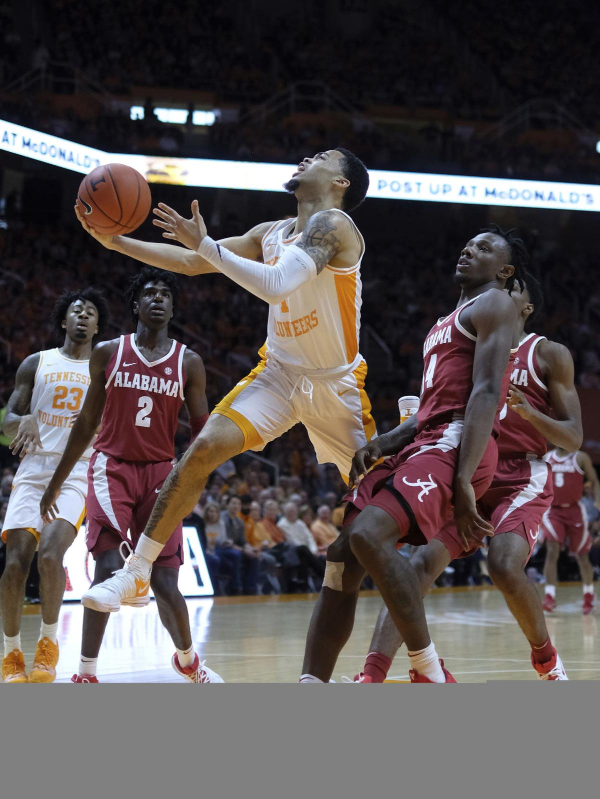 Vols assume No. 1 spot in AP basketball rankings