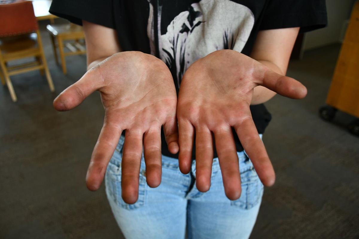 Sabrina Todd hands