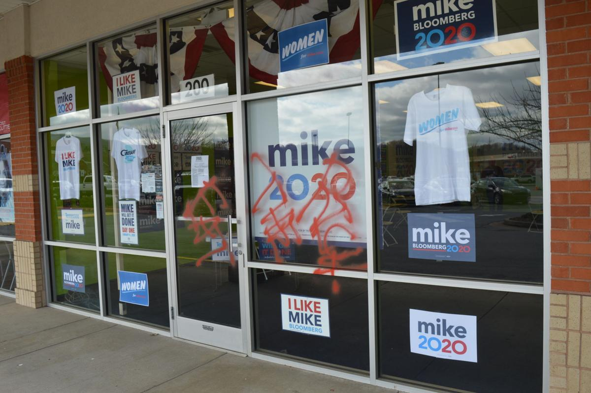 'Eat the rich' spray painted on Bloomberg campaign office in Johnson City