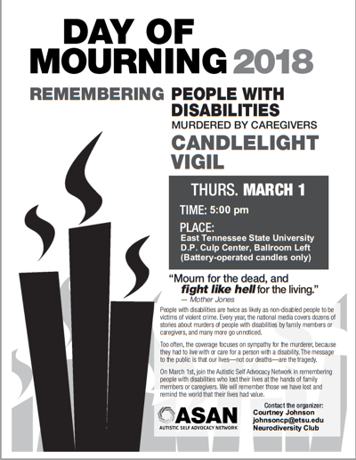 Local disability community set to commemorate the lives of disabled victims