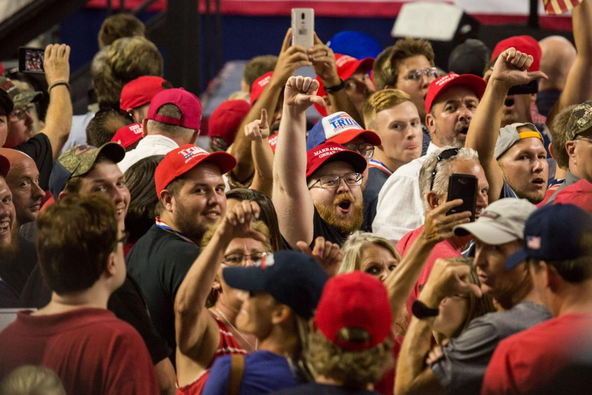 Trump rally draws biggest crowd in Freedom Hall history