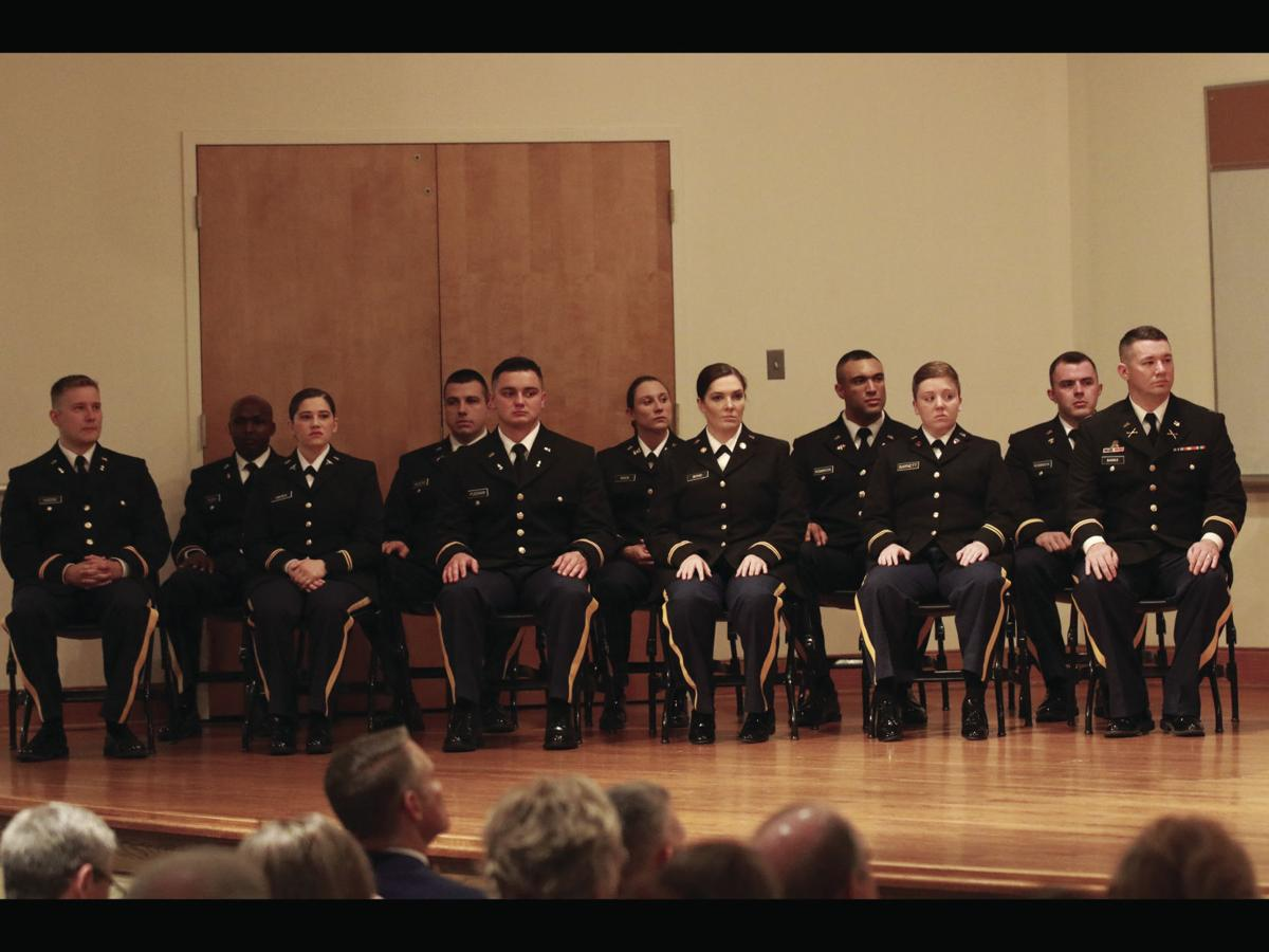 ROTC grads get their officer bars in commissioning ceremony prior to graduation at East Tennessee State University