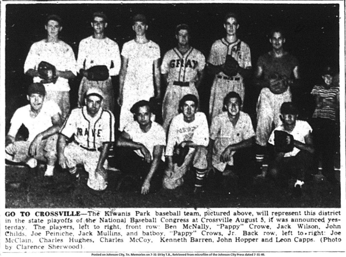 Kiwanis Park baseball team